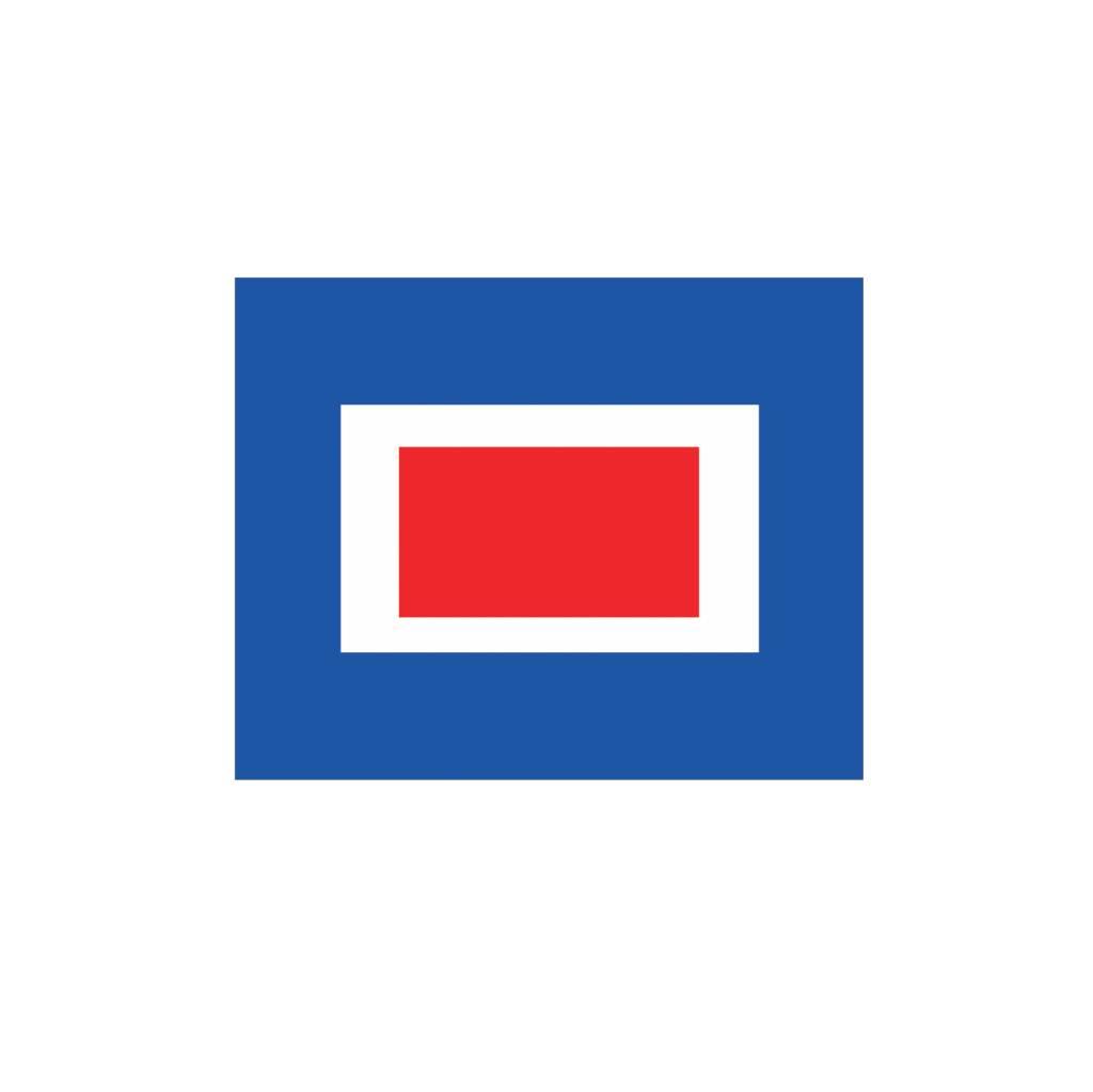 Maritime W drapeau autocollant