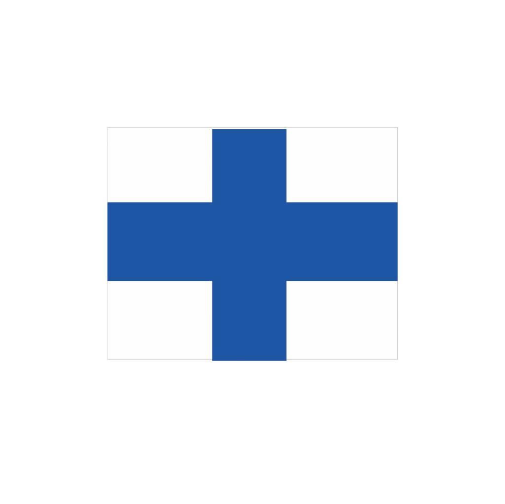 Nautische X Flagge Sticker