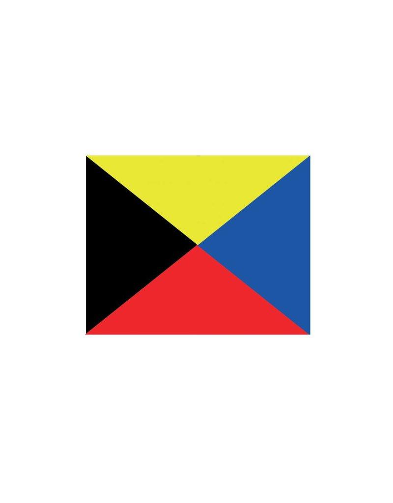 Nautische Z Flagge Sticker