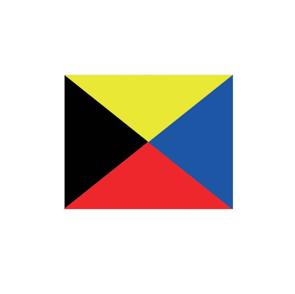 Maritime  Z flag Sticker