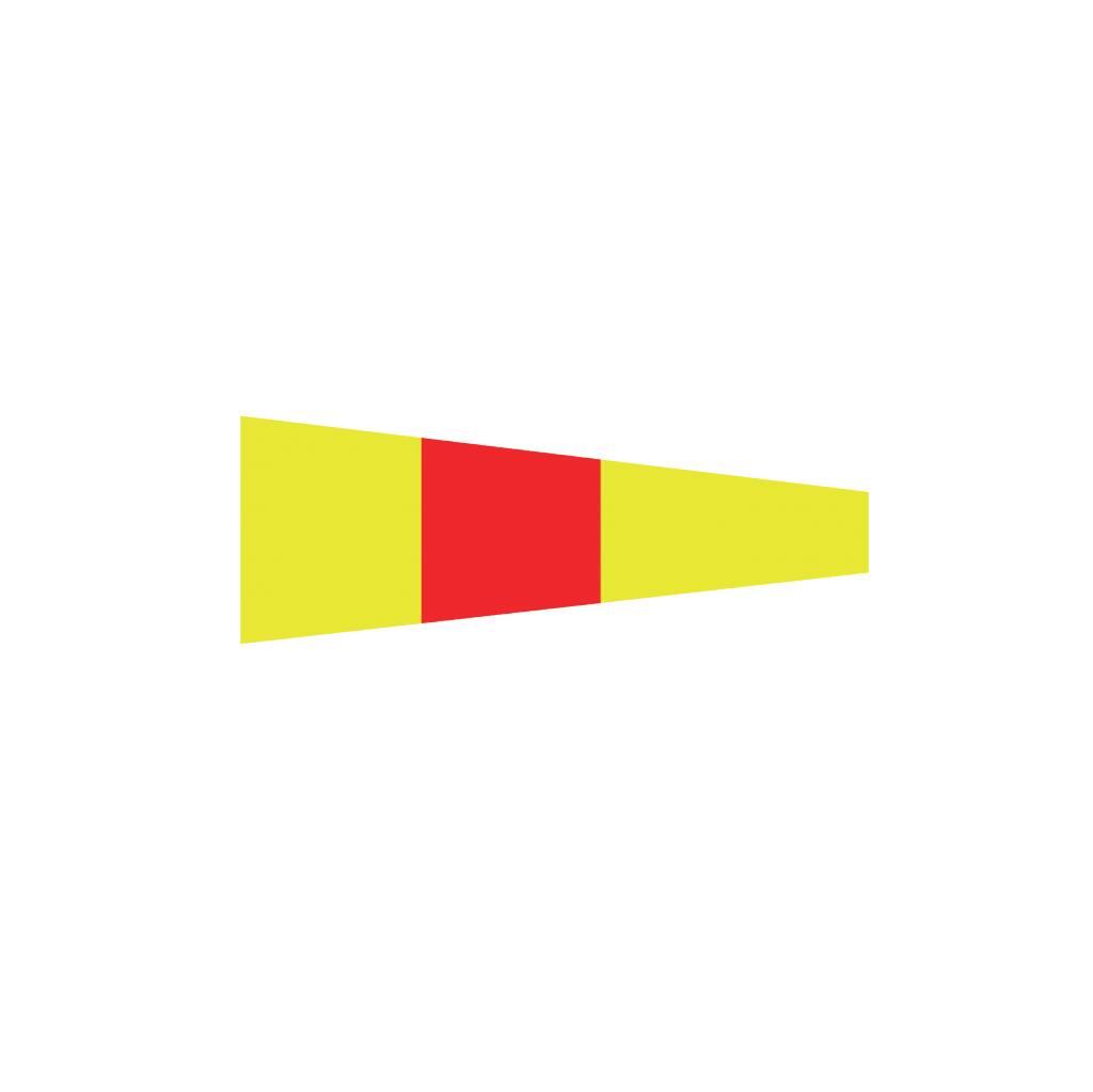 Nautische 0 Flagge Sticker