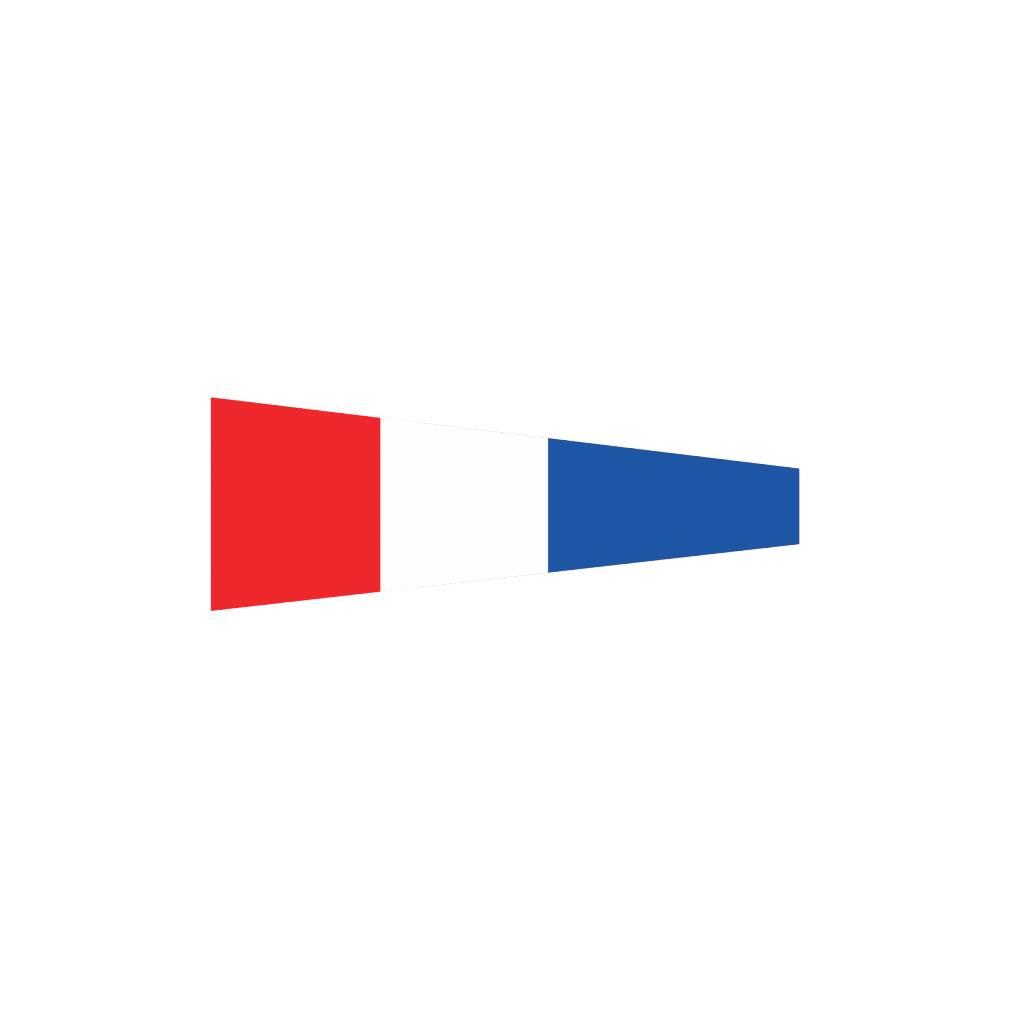 Maritime  3 flag Sticker