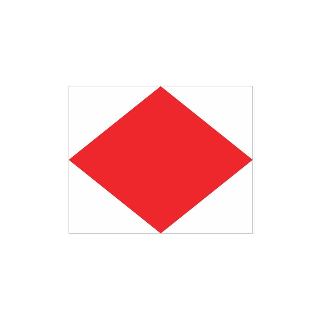 Nautische F Flagge Sticker