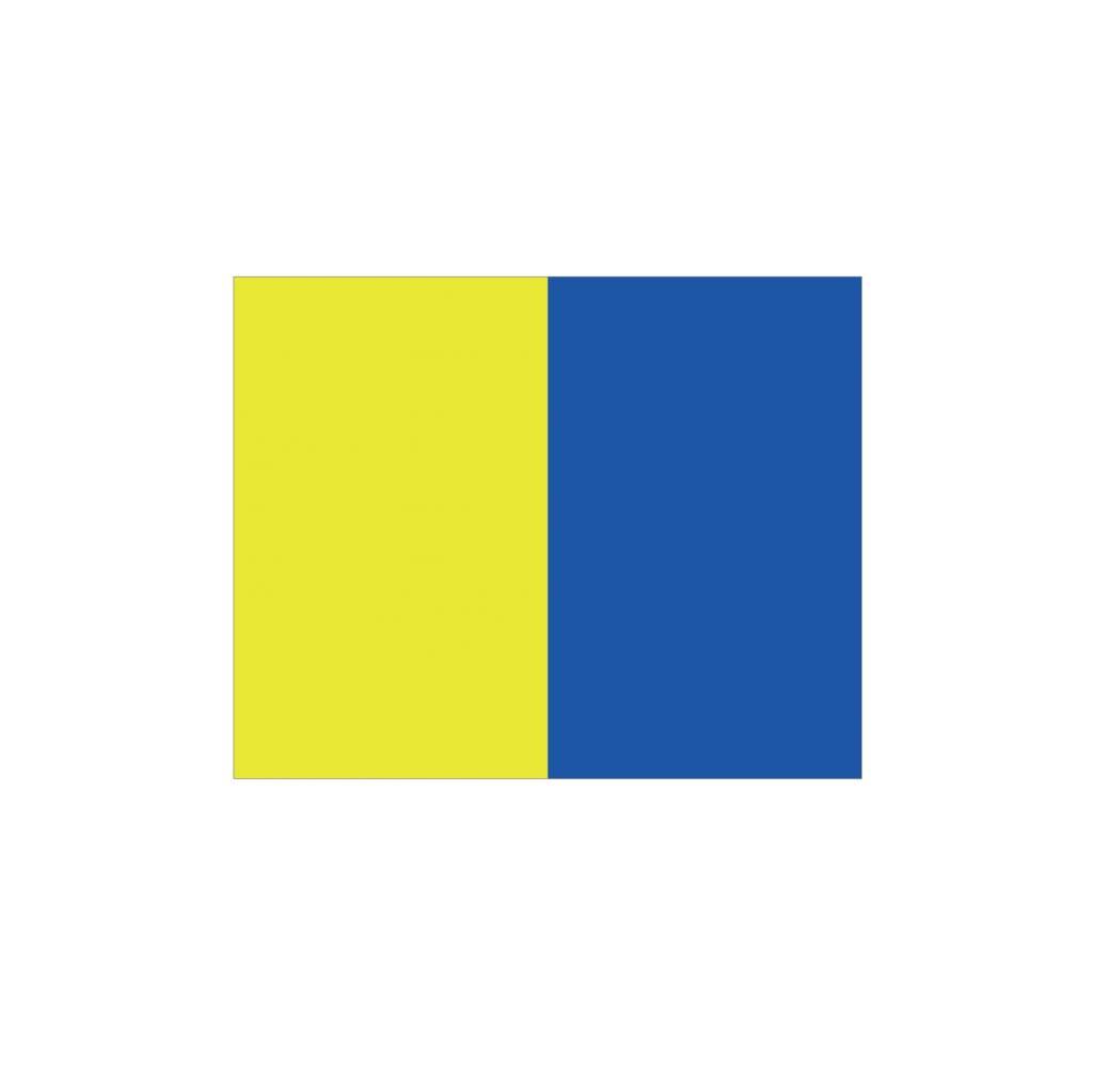 Nautische K Flagge Sticker