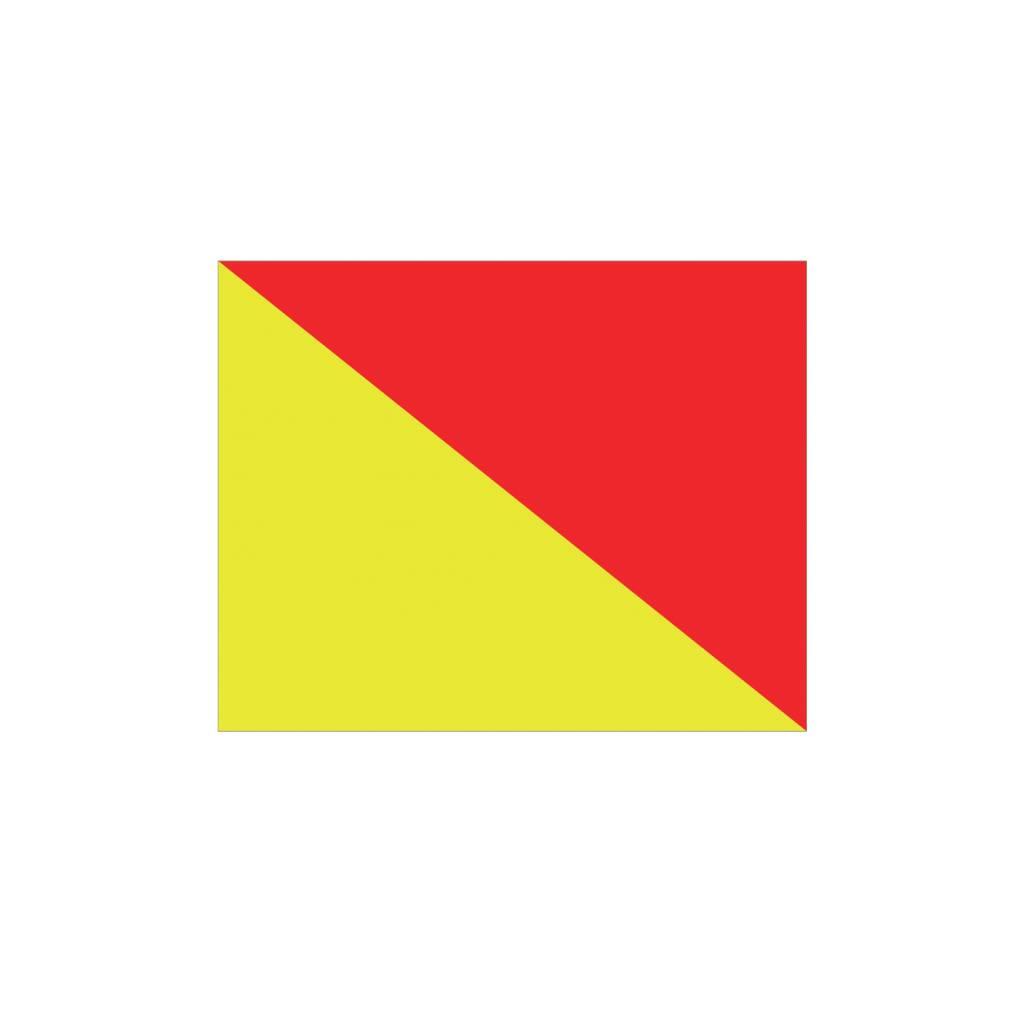 Nautische O Flagge Sticker
