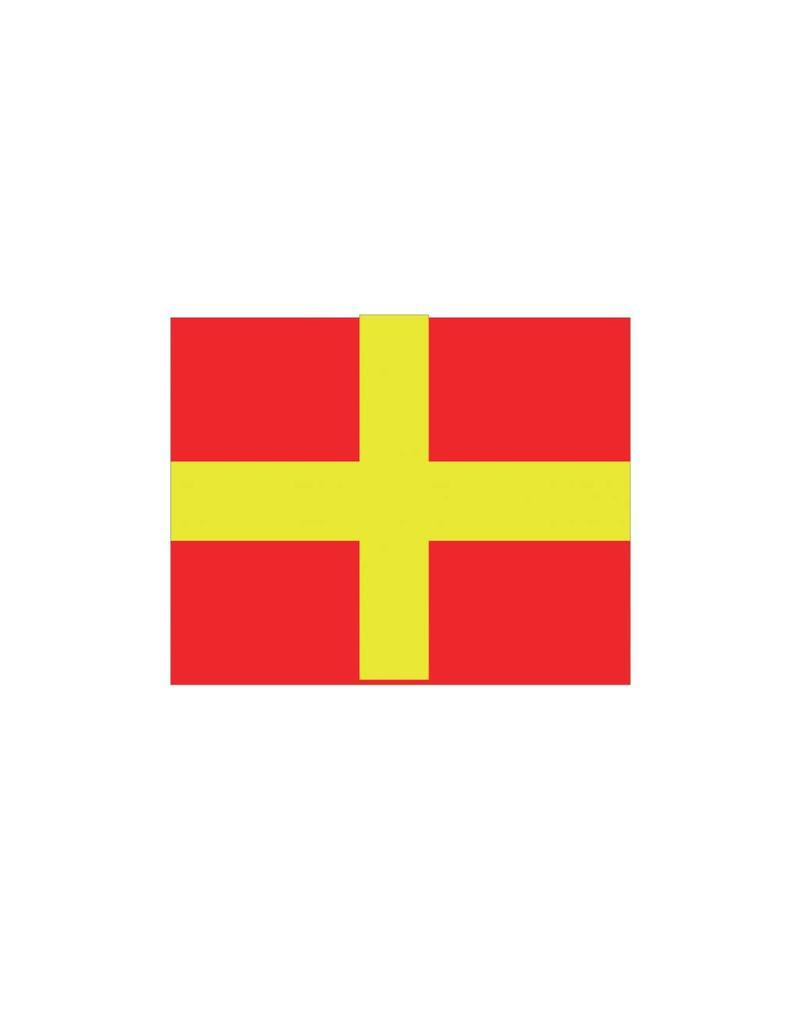Nautische R Flagge Sticker
