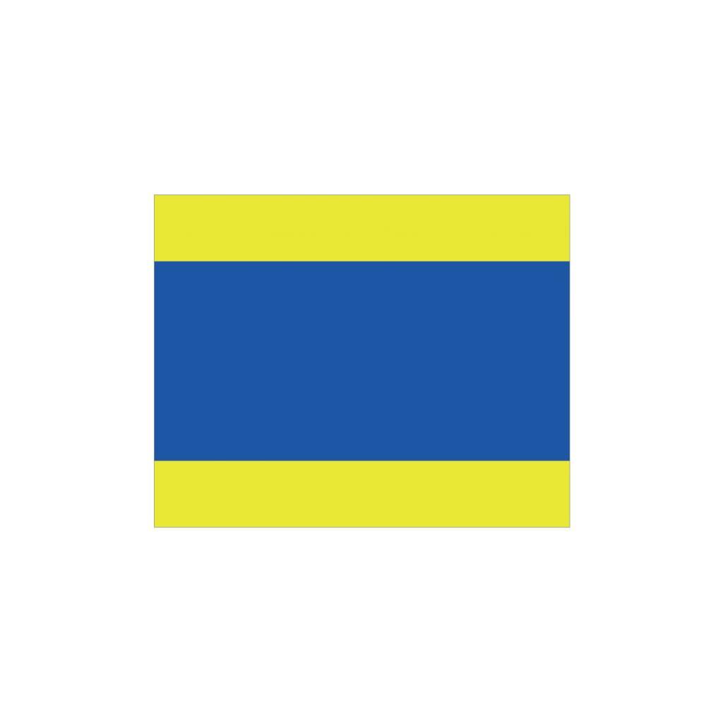 Nautische D Flagge Sticker