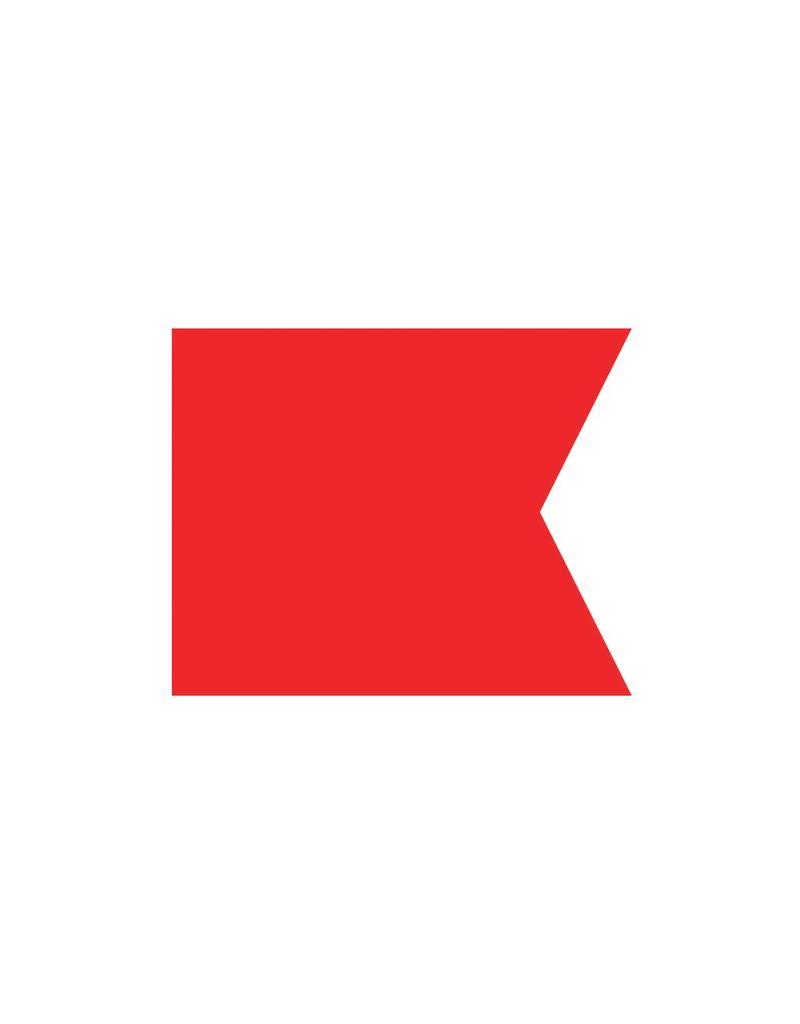 Nautische B Flagge Sticker