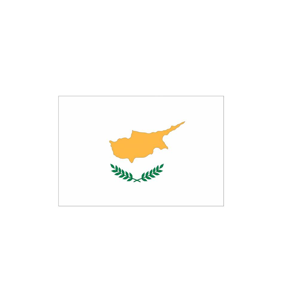 Cyprus vlag Sticker