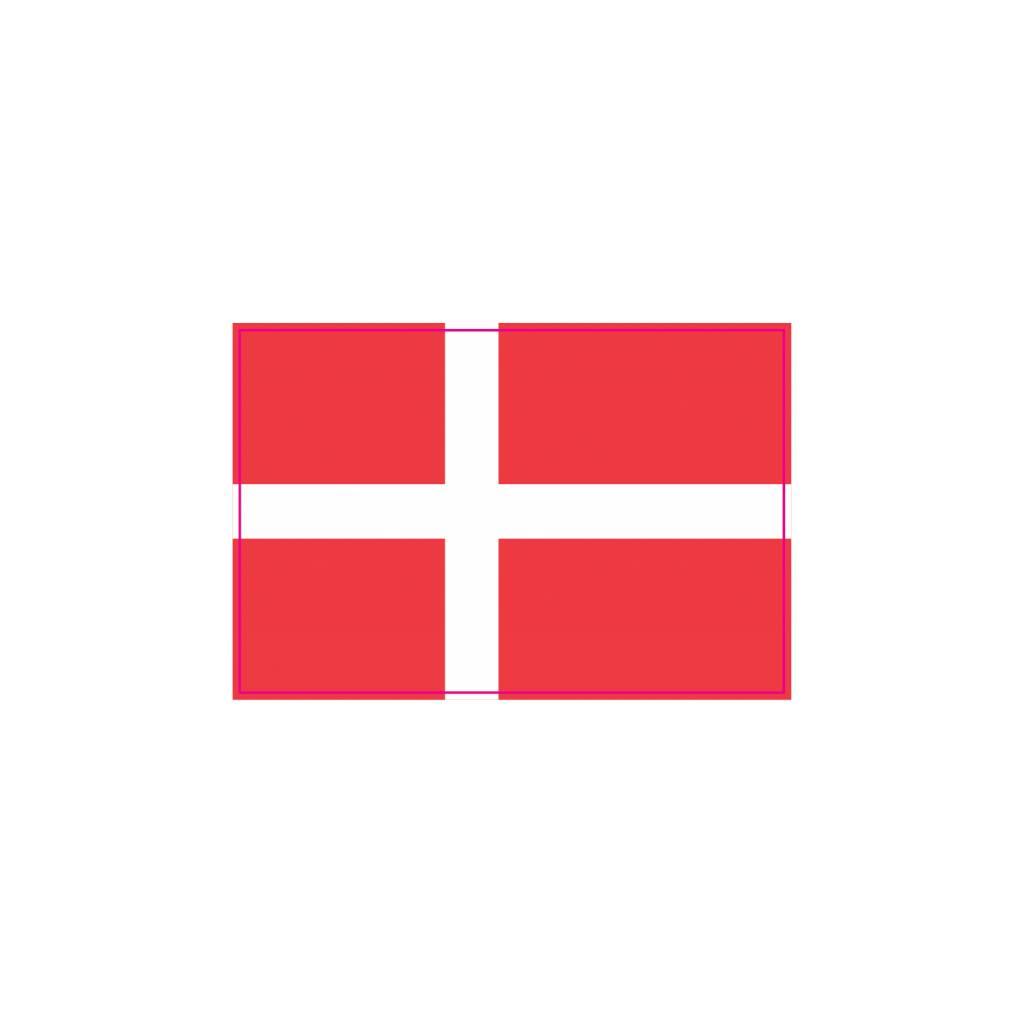 Denemarkse vlag Sticker
