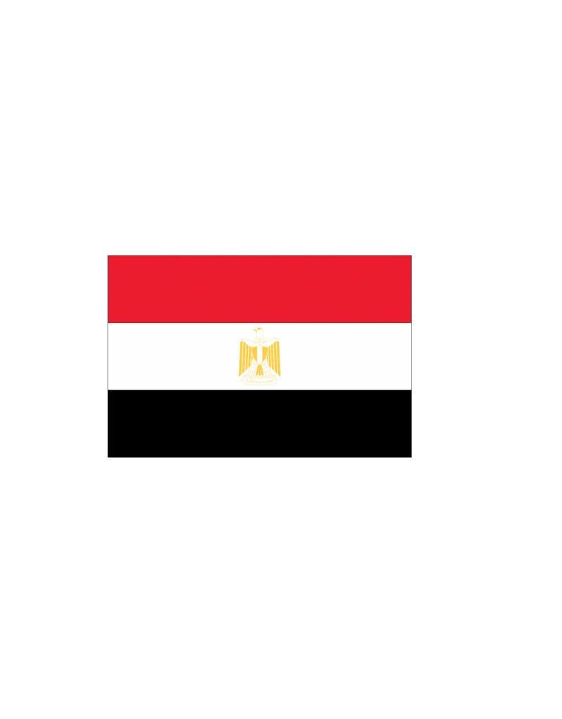 Egyptische vlag Sticker