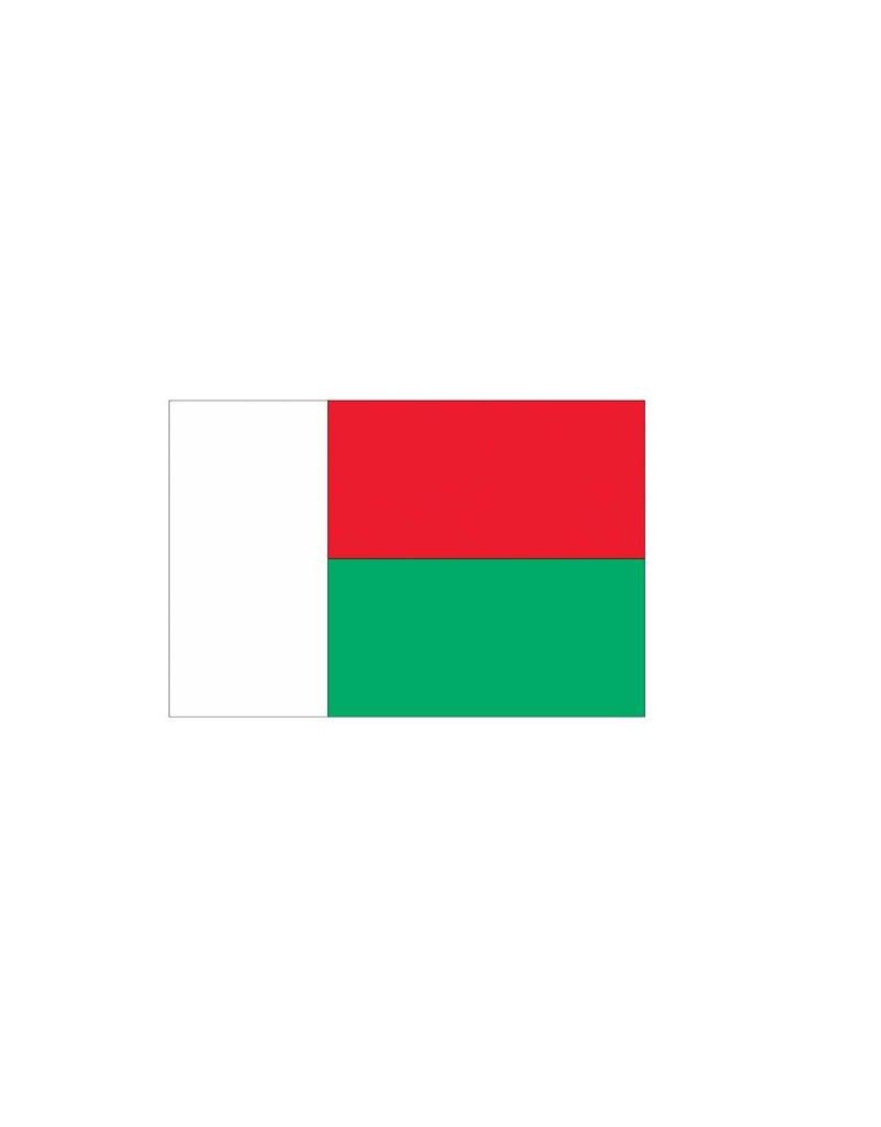 Madagascaanse vlag Sticker