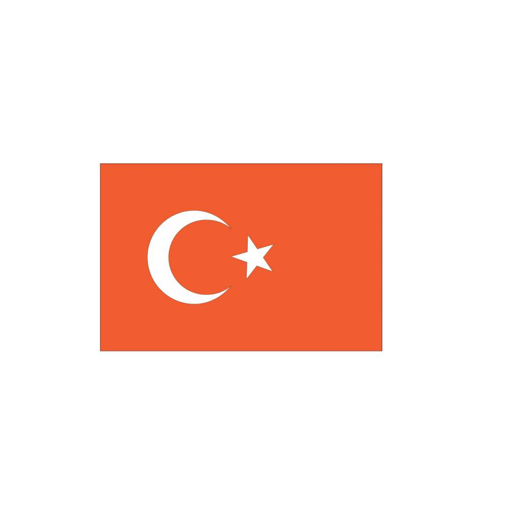 Turkse vlag Sticker
