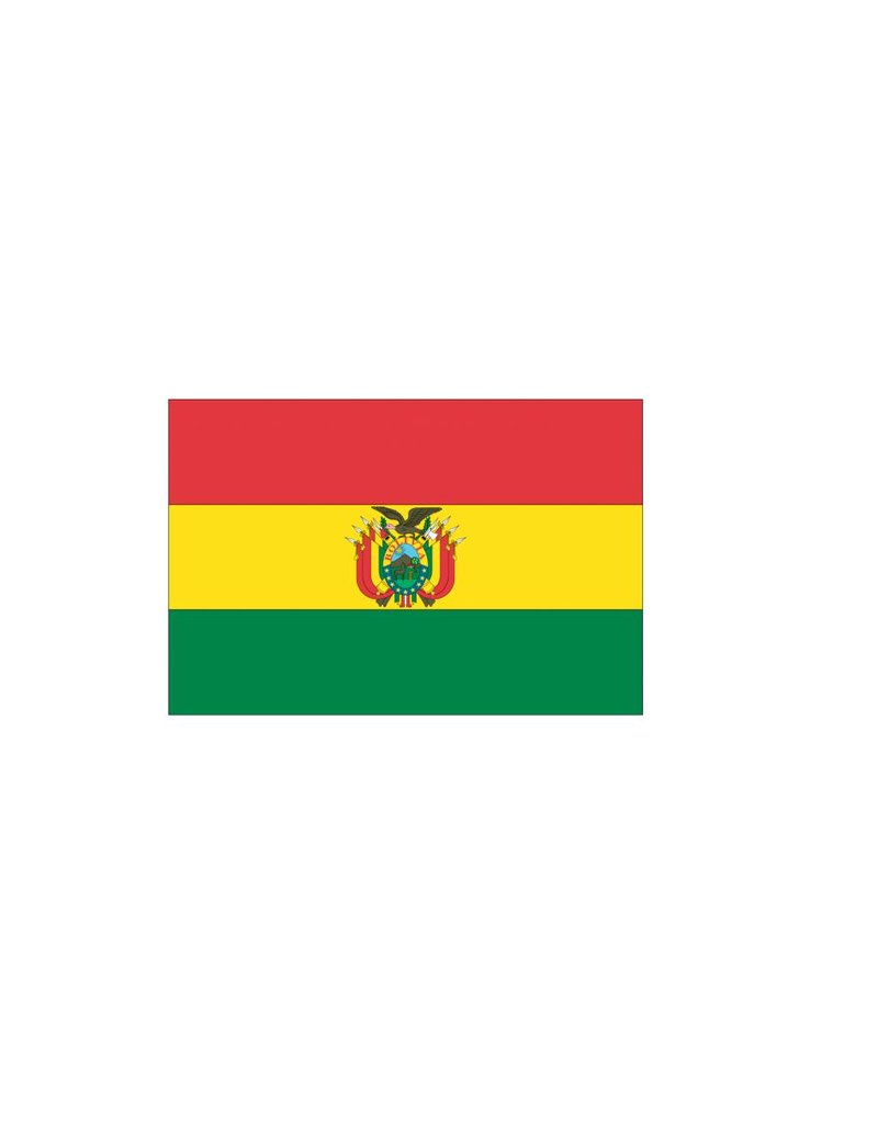 Bolivia vlag sticker 2