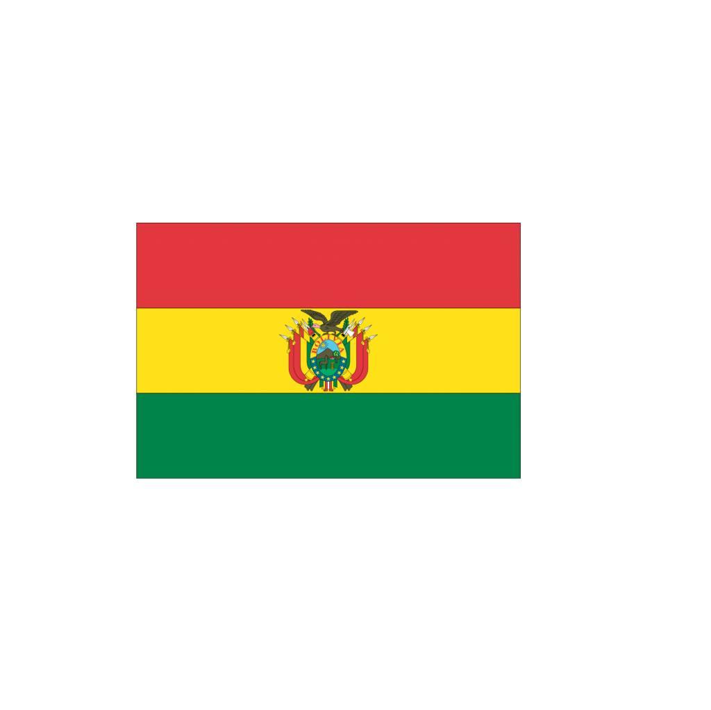 Bolivia vlag sticker 2