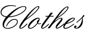 Clothes lettres adhésives