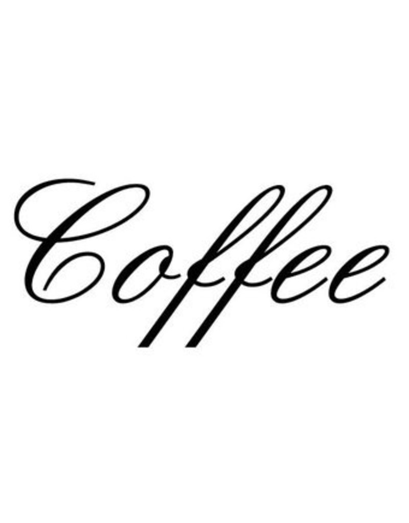 Coffee Letter Stickers