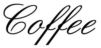 Coffee lettres adhésives
