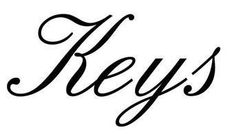 Keys Klebebuchstaben