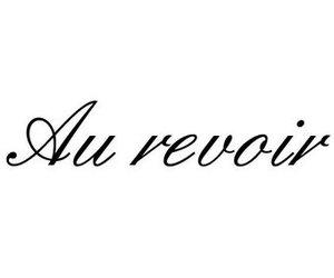 au revoir letter stickers dr sticker
