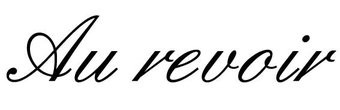 Au revoir Letter Stickers