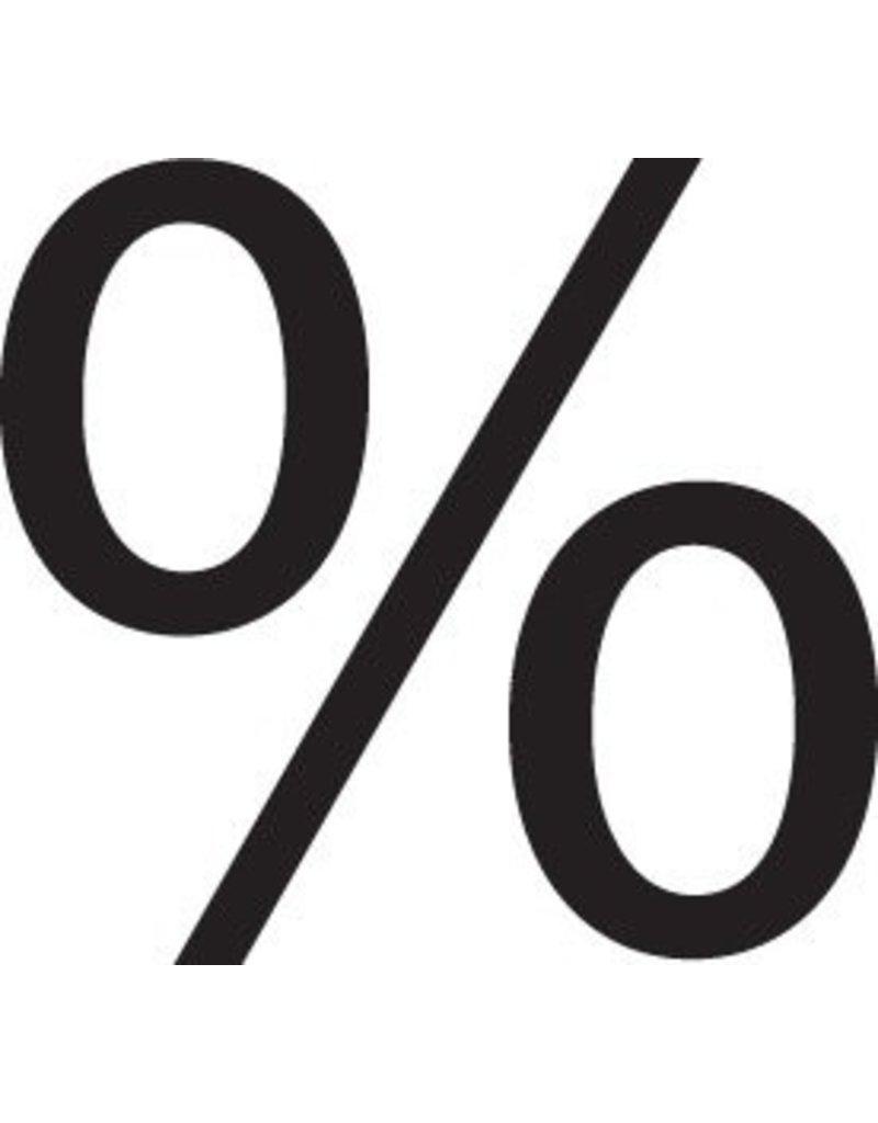 Prozent Klebebuchstabe