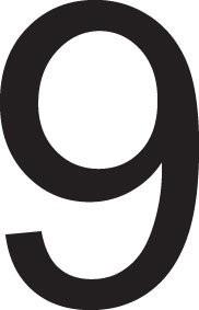 Neuf lettres adhésives