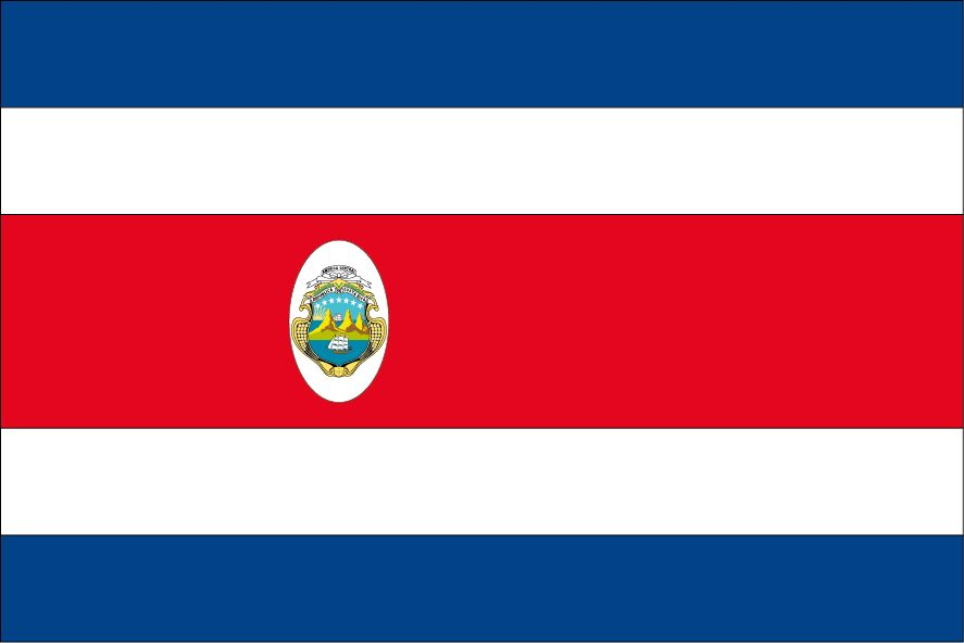 Costa Rica Vlag Dr Sticker