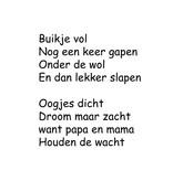Dutch text: ''Buikje vol''