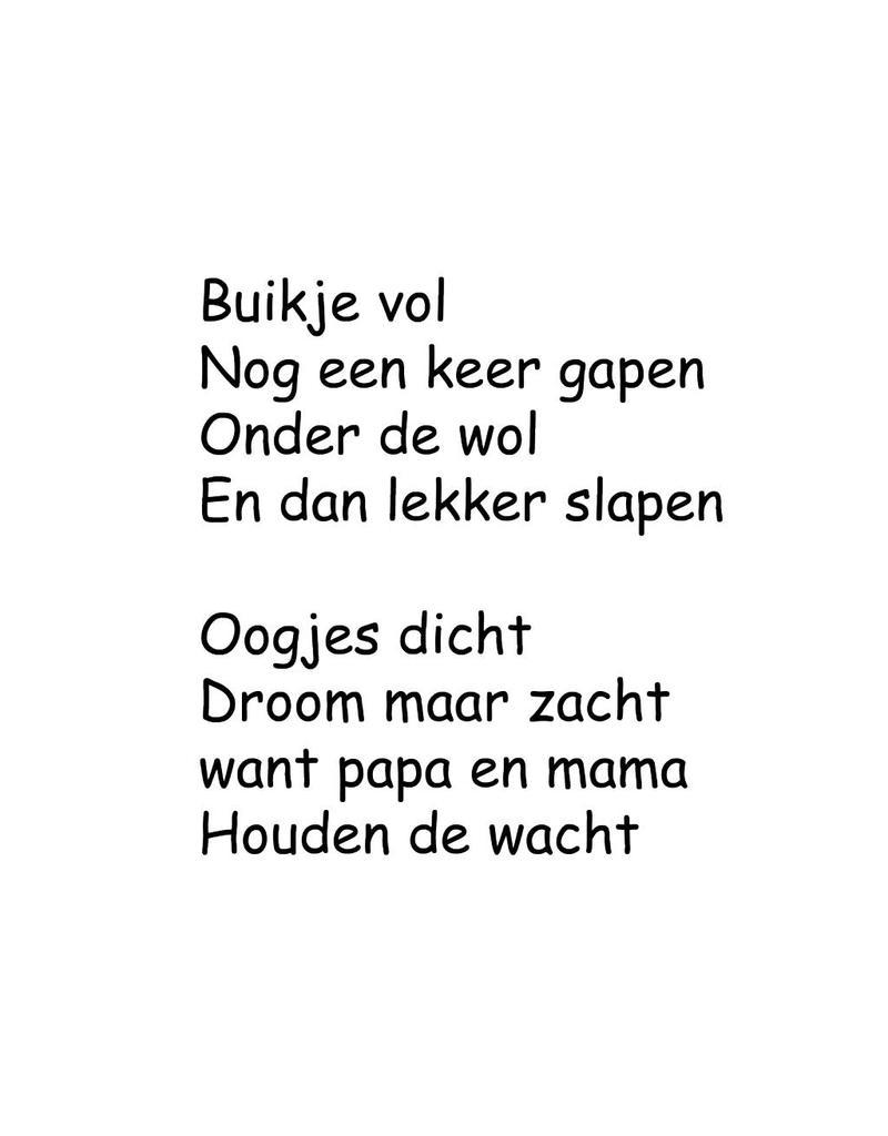 Texto holandés: ''Buikje vol''