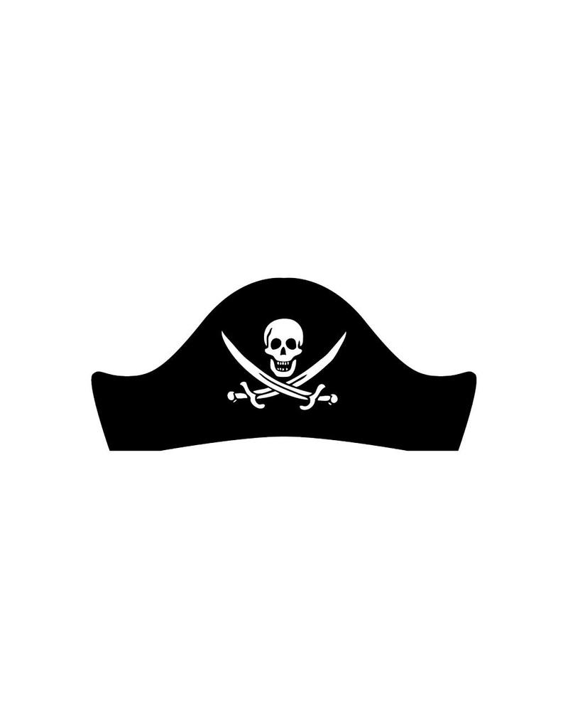 Piratenhoed Sticker