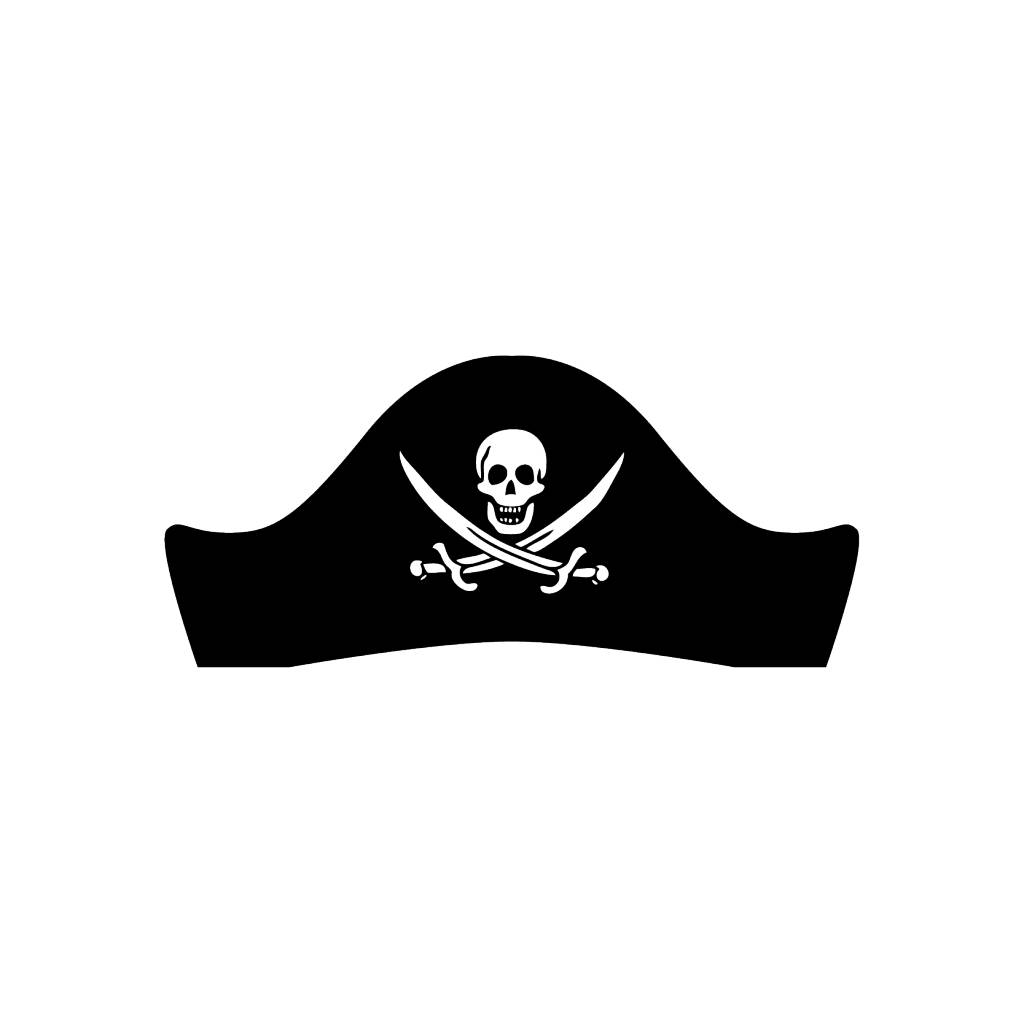 Pirate hat Sticker