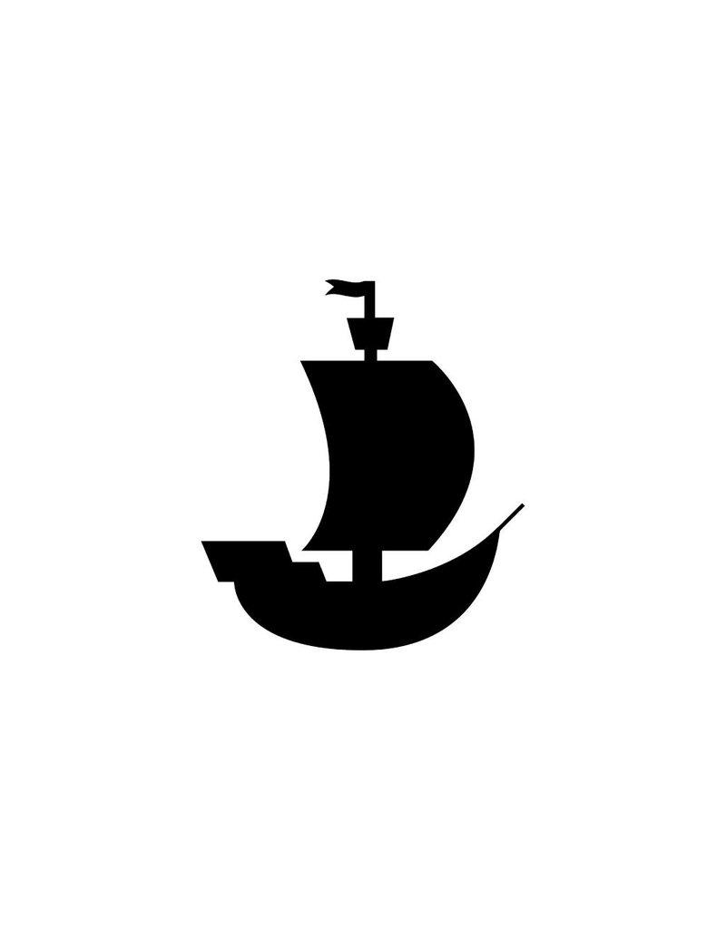 Bateau de pirate autocollant