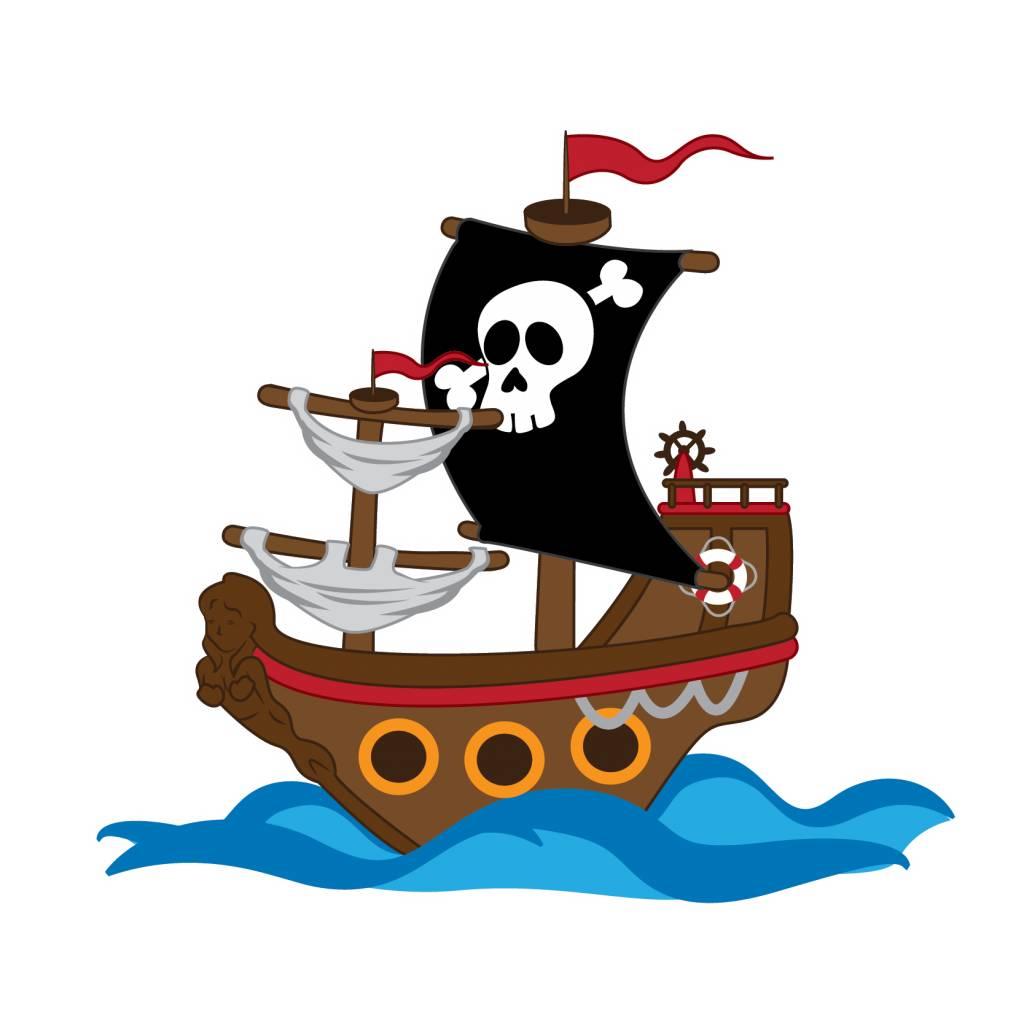 Kinderzimmer Sticker - Piratenschiff