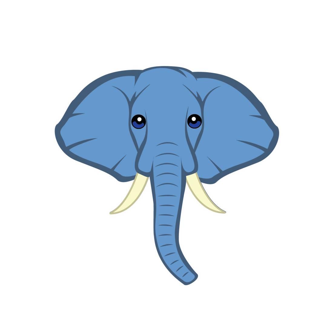 Autocollant chambre d'enfants - Éléphant