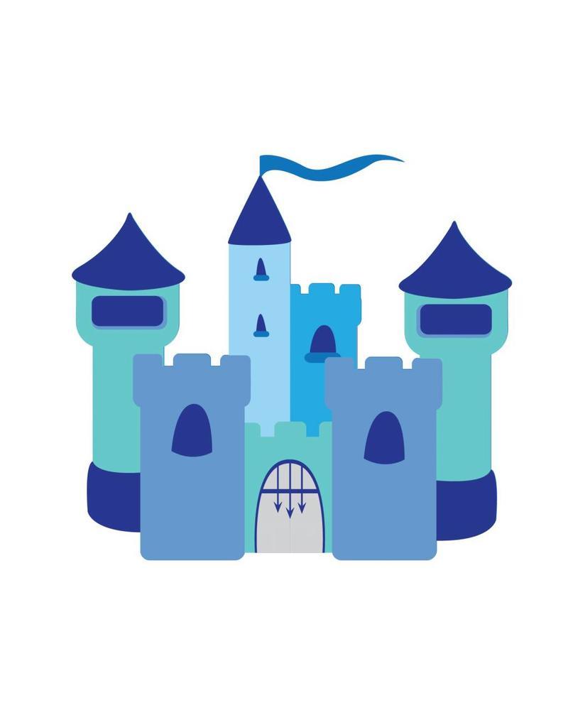 Autocollant chambre d'enfants - Château bleu