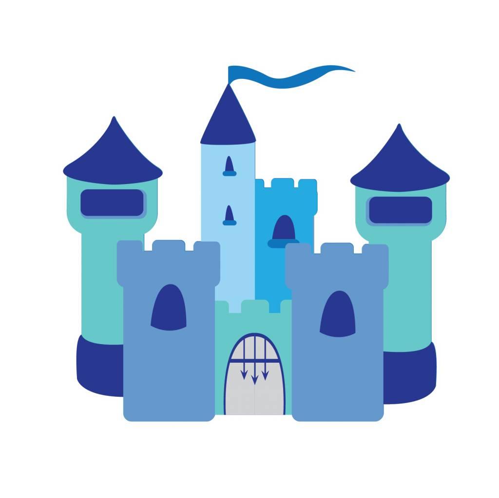 Pegatina habitación infantil - Castillo azul