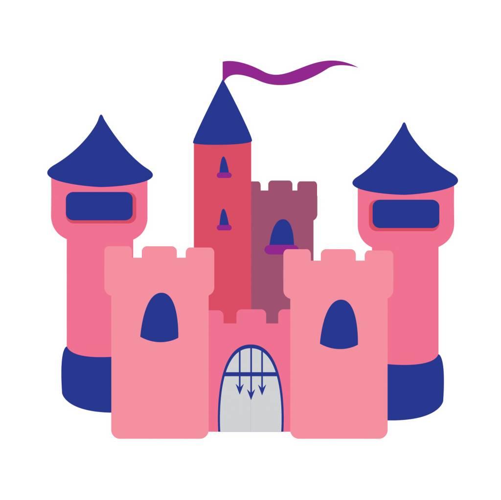 children's room Sticker - Castle pink