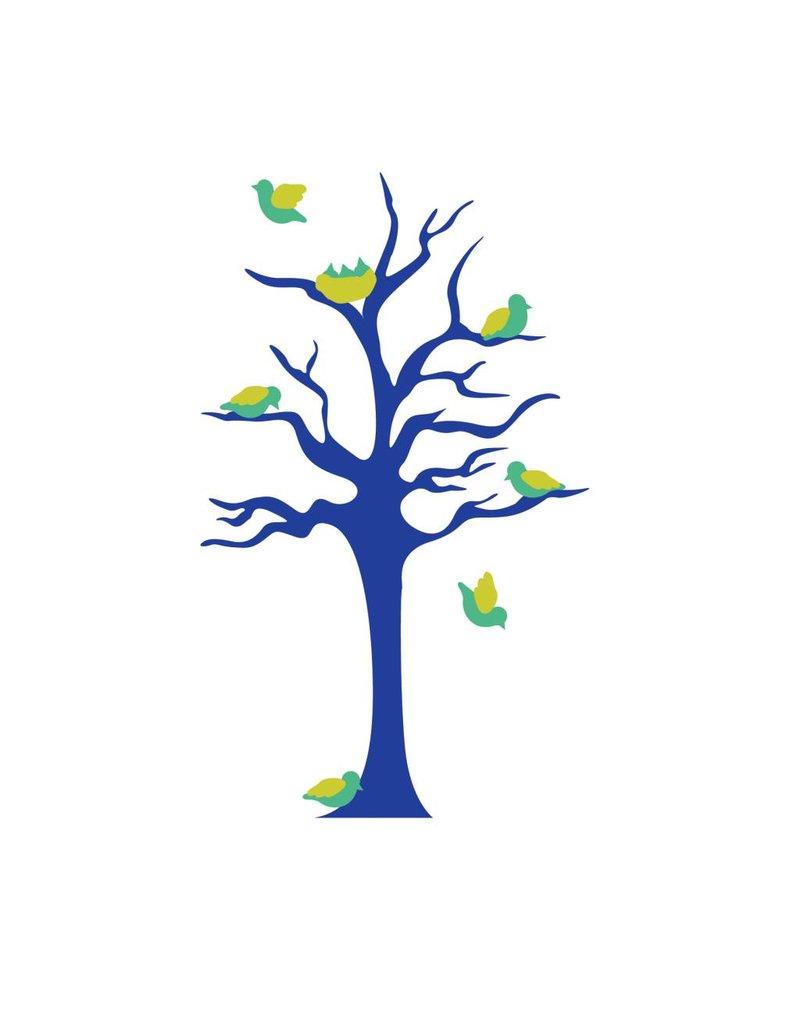 Kinderkamer Sticker - Boom & vogeltjes