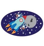 children's room Sticker - Monkeys in space