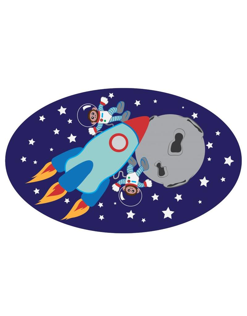 Pegatina habitación infantil - Monos en el espacio