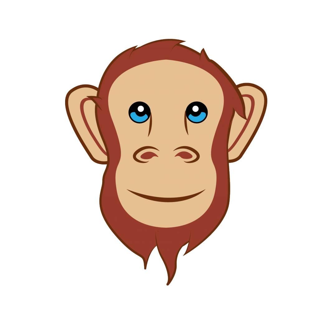 Kinderzimmer Sticker - Affe