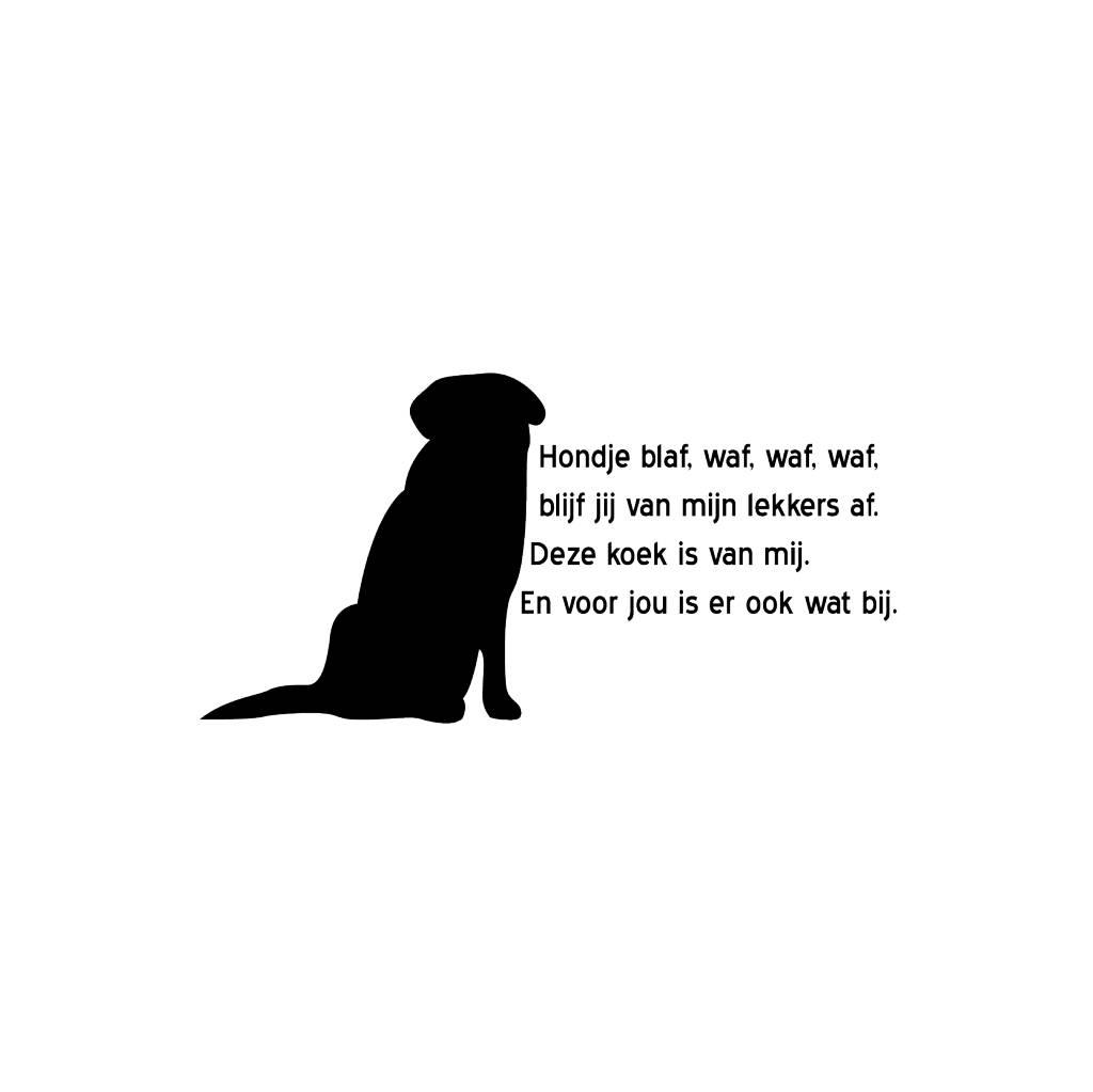 Lustiger Hundesticker für die Wand
