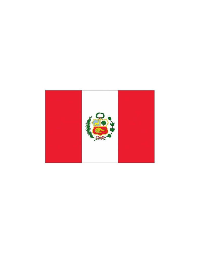 Peru vlag sticker 2