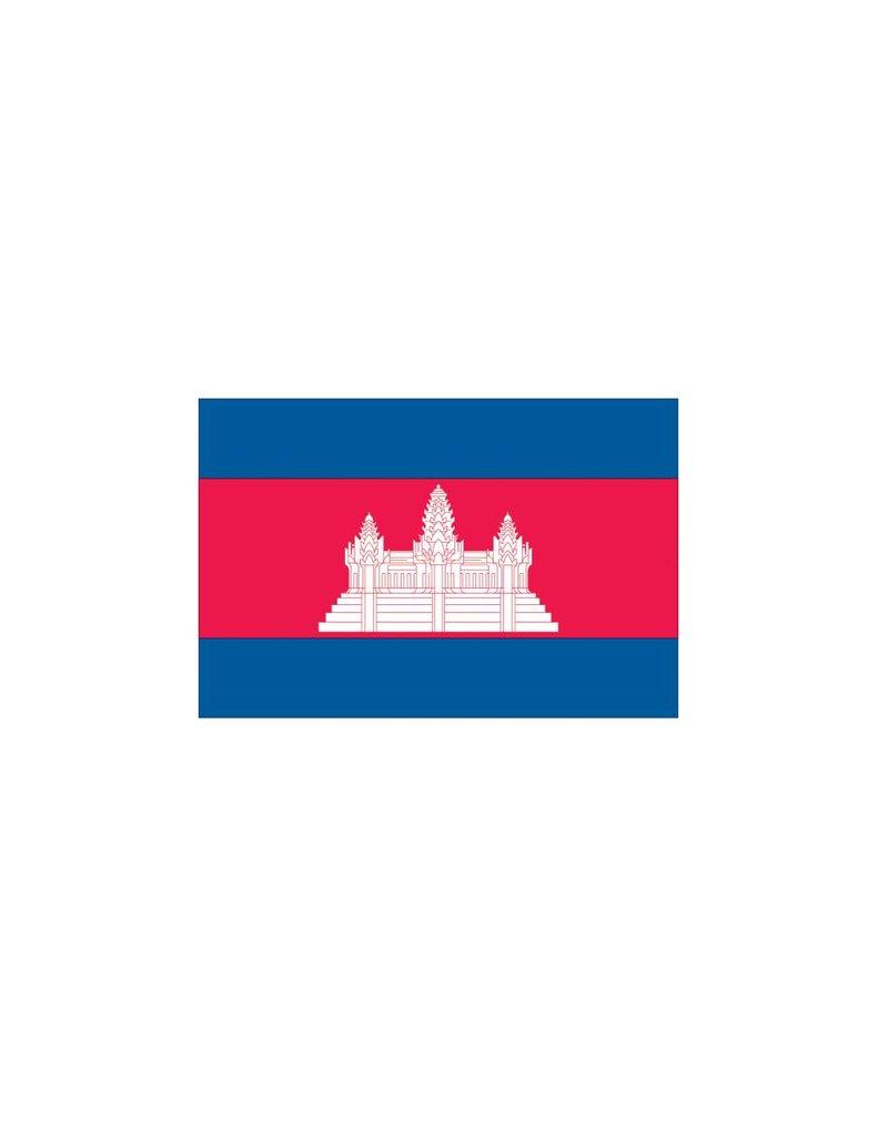 Cambodja vlag sticker