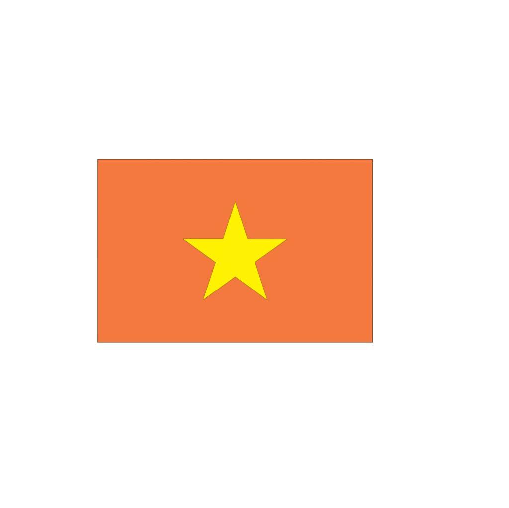 Vietnam Vlag sticker