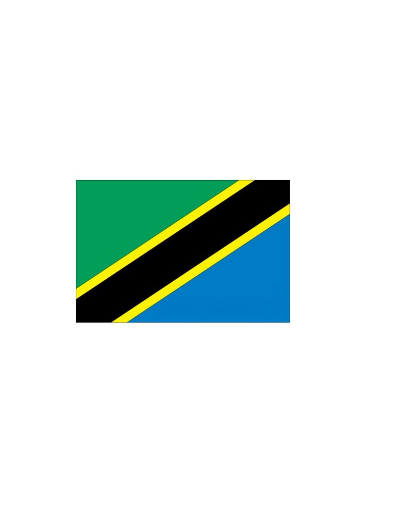 Tanzania vlag sticker