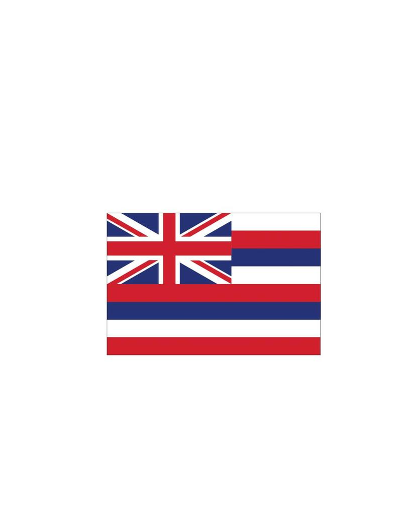 Hawai vlag sticker
