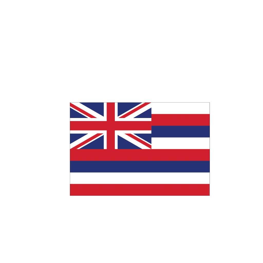 Hawai vlag sticker