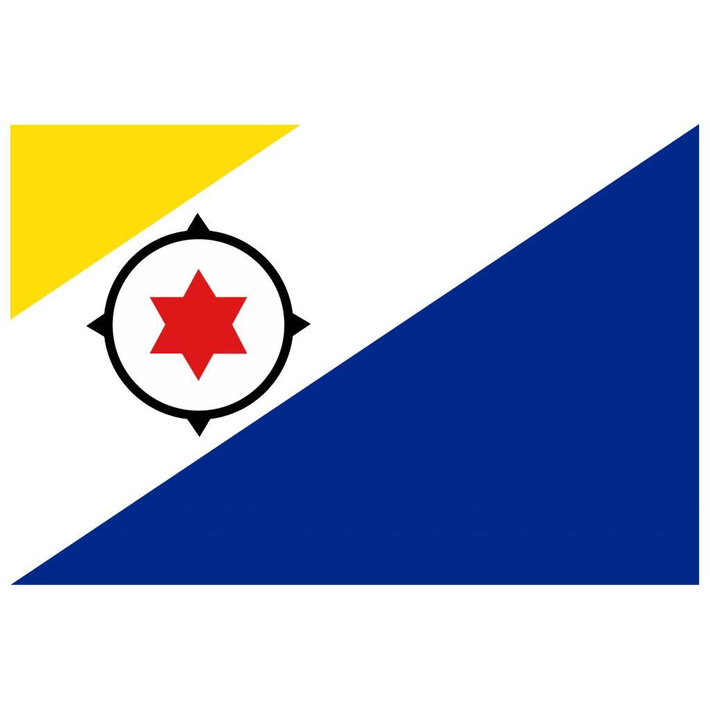 Vlag sticker Bonaire